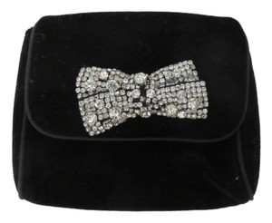 White House | Black Market Velvet Rhinestone Purse Black Clutch