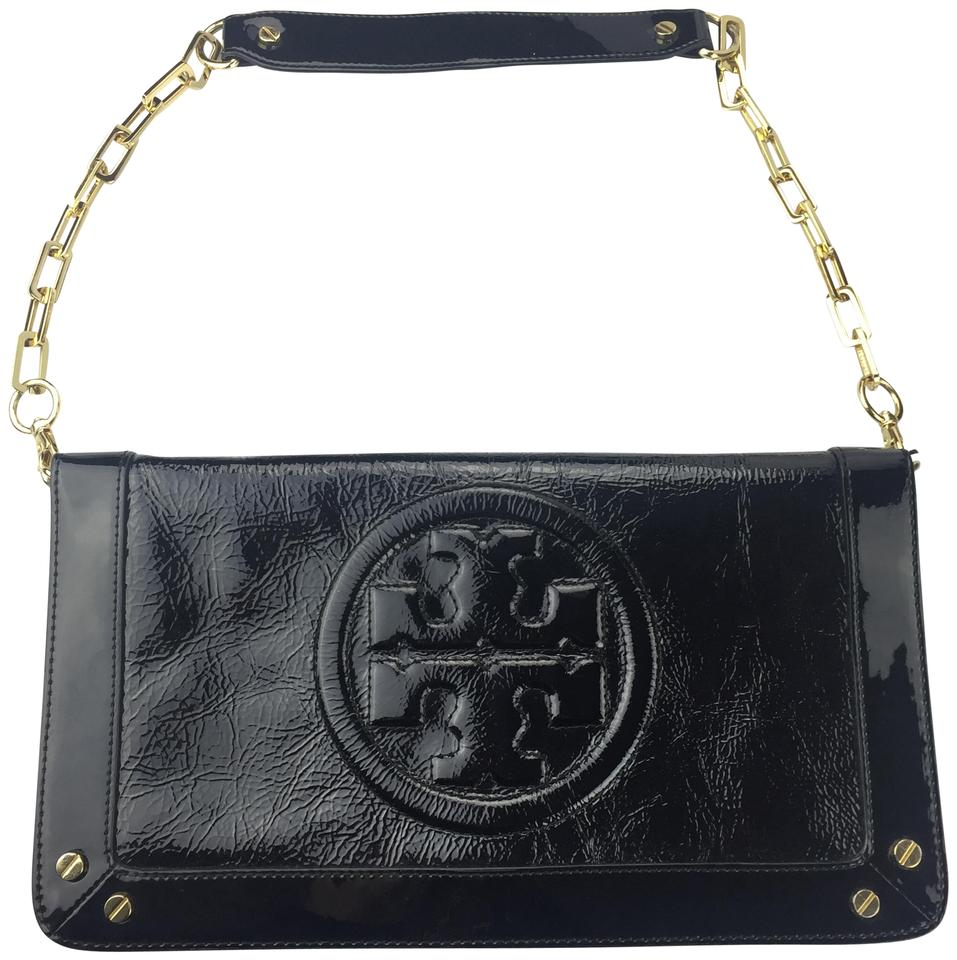 2decd8e441d Tory Burch Bombe Reva Clutch Black Patent Leather Shoulder Bag - Tradesy