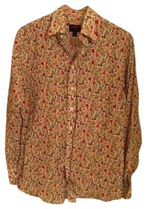 Liberty of London for Target Button Up Blouse Button Down Shirt Multi Floral