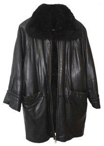 Andrew Marc Fur Leather Fur Coat