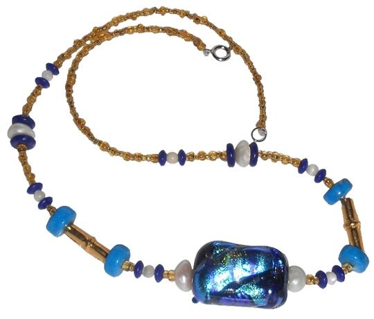 Preload https://img-static.tradesy.com/item/9914947/blue-green-art-glass-bead-with-pearls-large-necklace-0-1-540-540.jpg