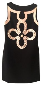 Tory Burch Wool Sleeveless Logo Sleek Dress