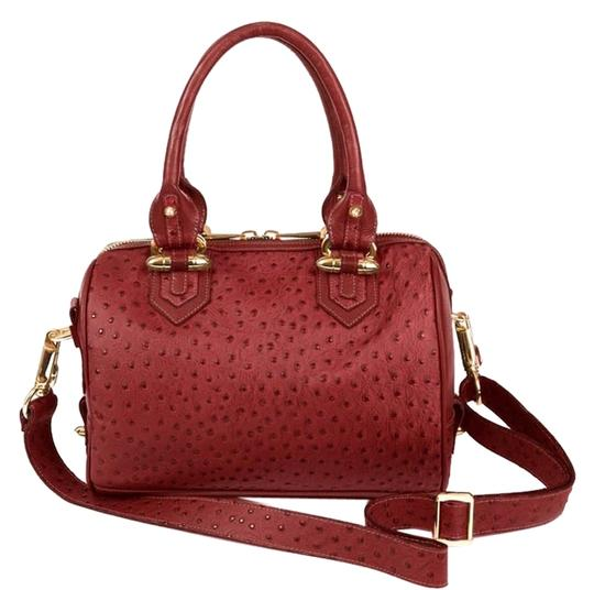 Preload https://item1.tradesy.com/images/cc-skye-new-luxe-madison-satchel-handbag-18kt-merlot-ostrich-embossed-leather-tote-9915160-0-1.jpg?width=440&height=440