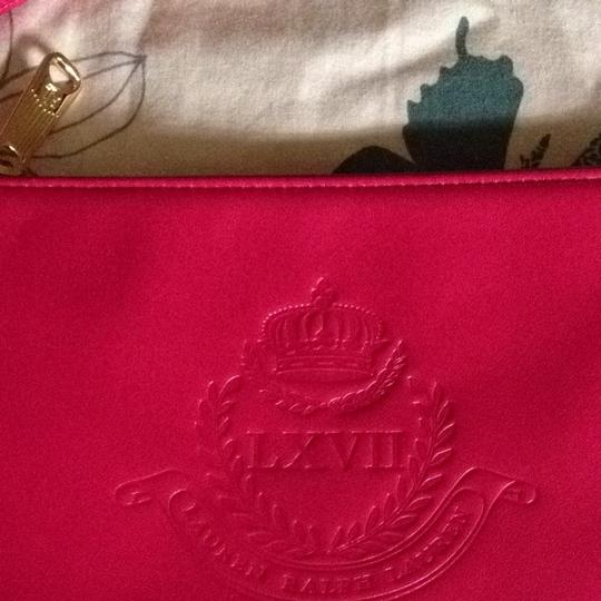 Ralph Lauren New Ralph Lauren Petunia Pink Large Leather Wristlet