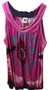 Missoni Bright Colorful Pink Black Top