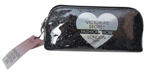 Victoria's Secret Nwt Victoria's Secret Fashion Show Silver And Black Glitter Makeup Bag