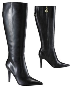 Ralph Lauren Tall Leather New Black Boots