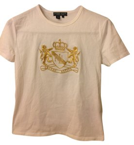 Ralph Lauren T Shirt white and gold