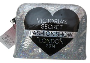 Victoria's Secret Nwt Victoria's Secret Fashion Show Silver Sequins Makeup Bag