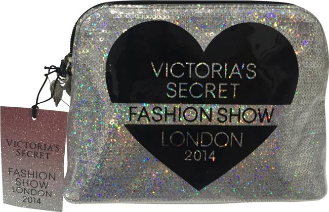 Item - Black Silver Fashion Show Sequin Makeup Cosmetic Bag