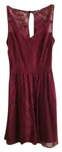 Charlotte Russe short dress Wine Red on Tradesy
