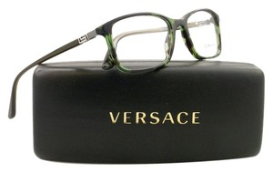 Versace Versace VE3163 993 Green Havana Full Rim Mens Rx Eyeglasses