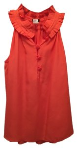 J.Crew Top Coral red
