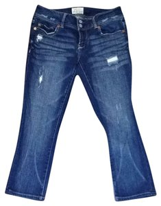 Aeropostale Capri/Cropped Denim-Medium Wash