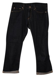 AG Adriano Goldschmied Cropped Jean Capri/Cropped Denim-Dark Rinse