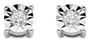Other New Sterling Silver 1/10 Cttw Diamond Stud Earrings - item med img