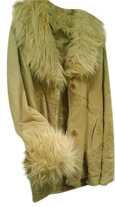 Wilson TAN WITH FUR TRIM ON COLLAR AND SLEEVES Leather Jacket