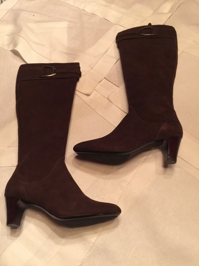 Cole Haan Suede Leather Brown Nike Air Dark Chocolate Boots