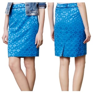 Anthropologie Skirt Blue