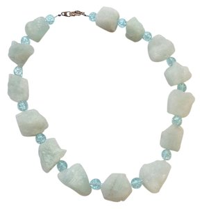 Anthropologie pastel blue semi precious stone necklace