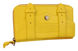Proenza Schouler LEMON TEXTURE LEATHER PS1 LARGE ZIP CLUTCH WALLET