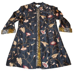 Anage Black Embroidered Coat