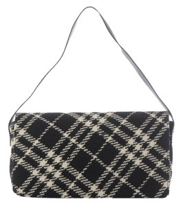 Burberry Bb.j1111.13 Check Wool Fabric Shoulder Bag
