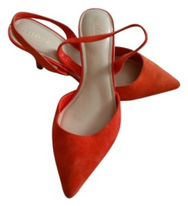 Liz Claiborne Suede Orange Pumps