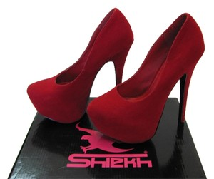 Shiekh Size 6.00 Very Good Condition Red Platforms