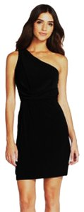 Adrianna Papell One-shoulder Embellished Ruffle Little Dress