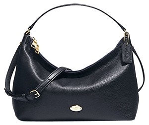 Coach Nwt East/west Celeste Satchel in Navy Midnight Blue/ Gold