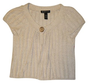 INC International Concepts Beige Cap Sleeves Sweater