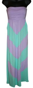 Purple/Turquoise Maxi Dress by Coveted Clothing Maxi Chevron