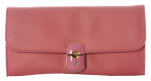 Balenciaga Bg.j0130.12 Gold Hardware Leather Enamel Pink Clutch - item med img