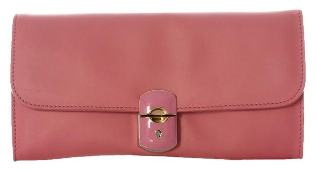 Balenciaga **cr**2013 Padlock Rose Pink Calfskin Leather Clutch Balenciaga **cr**2013 Padlock Rose Pink Calfskin Leather Clutch Image 1