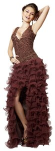 Primavera Couture Deep Front Slit Spanish Flamenco Style Dress