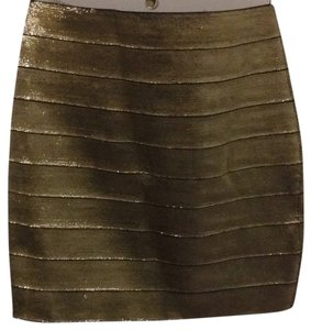 Forever 21 Mini Skirt Gold silver
