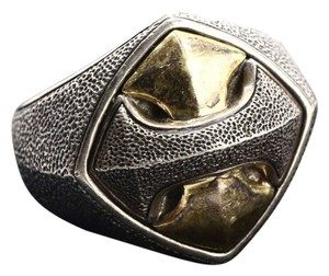 David Yurman David Yurman Armonry Signet 18k Gold and 925 Silver Ring