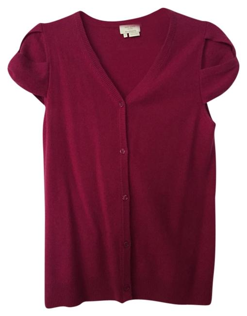 Preload https://img-static.tradesy.com/item/9919519/kate-spade-new-york-short-sleeve-cardigan-pink-sweater-0-1-650-650.jpg
