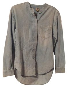 Citizens of Humanity Chambray Anthropologie Button Down Shirt Denim