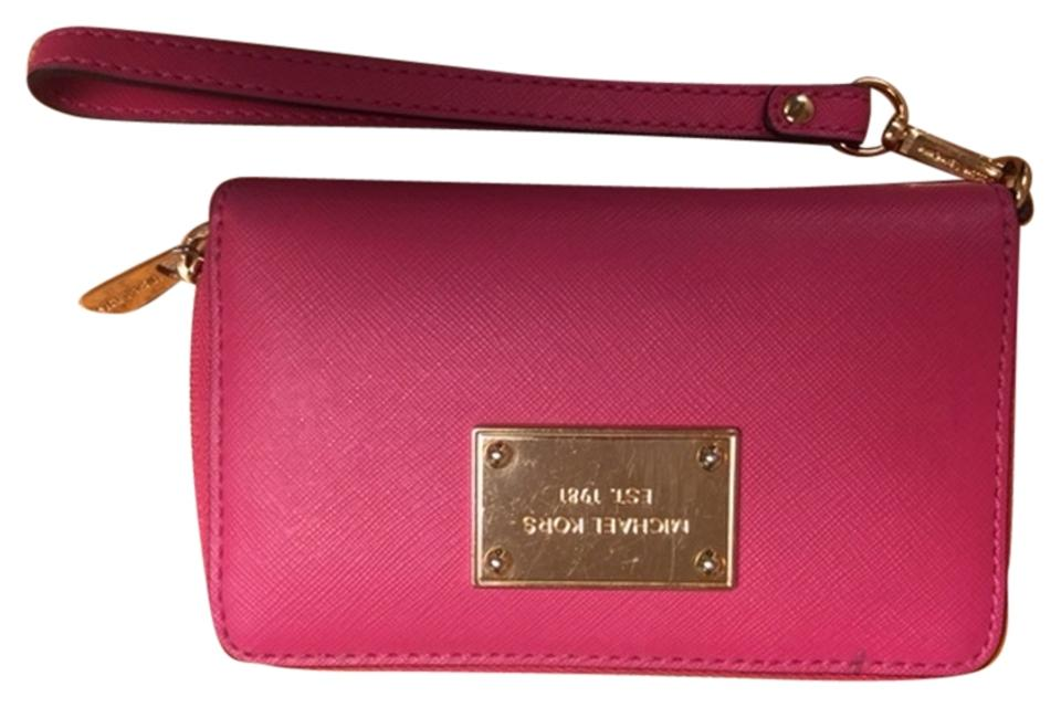 0c26775dc60e Michael Kors Great For Any Purse Or Carry Alone Pink/Fuchsia Shade With  Gold Zipper ...