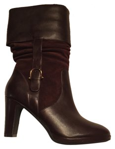 Ralph Lauren Suede Leather New Dark Brown Boots
