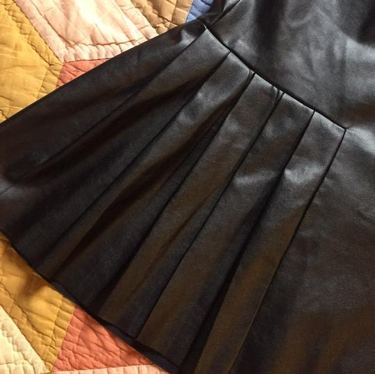 lovely Twelfth St. by Cynthia Vincent Leather Pleated Nye Newyears Holiday Mini Skirt - 52% Off Retail