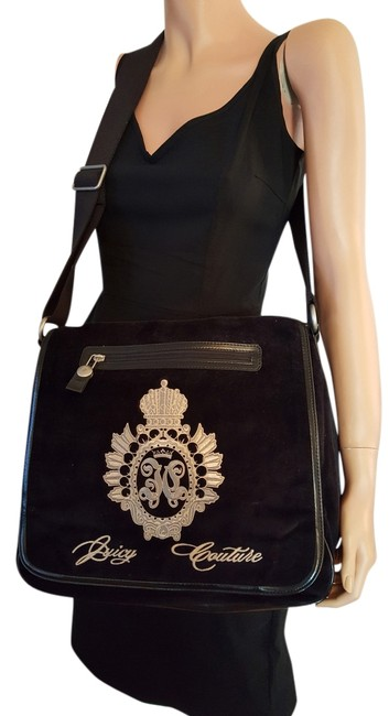Juicy Couture With Logo In Black Suede Cross Body Bag Juicy Couture With Logo In Black Suede Cross Body Bag Image 1