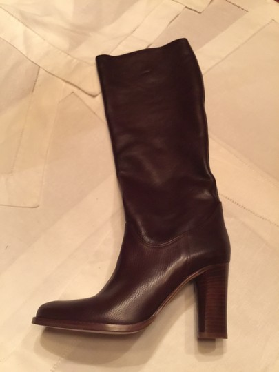 Cole Haan Leather Tall New Italian Dark Brown Boots