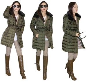 Burberry Winterleigh Shearling Detachable Colar Puffer Military Jacket
