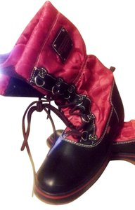 Coach black & Red Boots