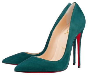 Christian Louboutin So Kate Stiletto Suede Forest Green Pumps
