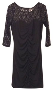 Alexander McQueen Ruched Lace Dress