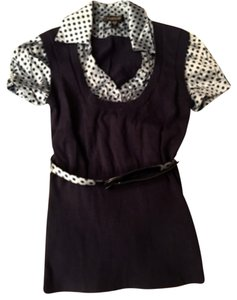 bebe Top Navy and light blue